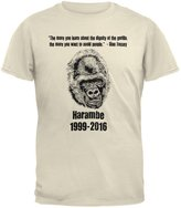 Old Glory Harambe Dignity Avoid People Mens T Shirt LG