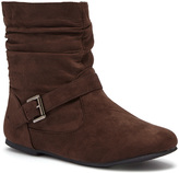 Brown Slouchy Side Buckle Boot