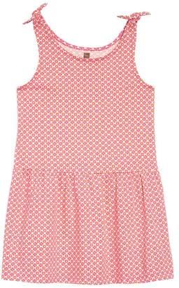 Tea Collection Print Tie Shoulder Dress (Toddler Girls & Little Girls)