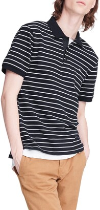 Rag & Bone Striped Pique Polo