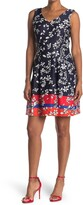 Thumbnail for your product : Donna Ricco Floral Print V-Neck Sleeveless Dress