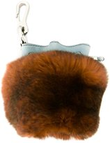 Alexander Wang mini 'Roxy' keychain - women - Leather/Rabbit Fur - One Size