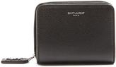 Saint Laurent Zip-around grained-leather wallet