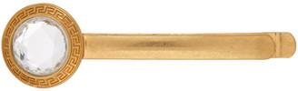 Versace Gold Crystal Round Barette