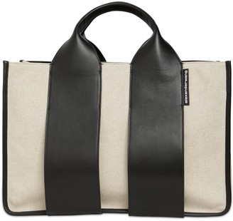 Alexander Wang Large Rocco Canvas & Leather Tote Bag