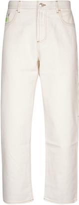 GCDS Straight-leg Logo Jeans