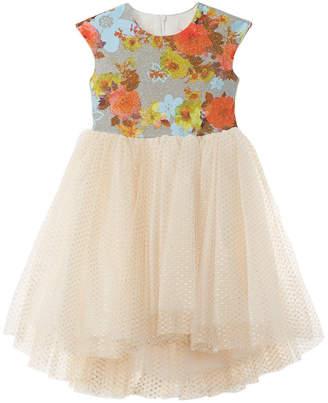 Halabaloo Glitter Jacquard Dress