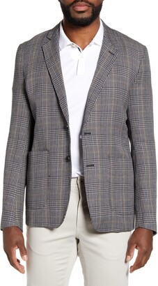 Billy Reid Dylan Plaid Linen & Cotton Blend Sport Coat