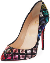 Christian Louboutin Arletta Multicolor Crystal Red Sole Pump