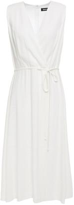 DKNY Wrap-effect Gauze Midi Dress