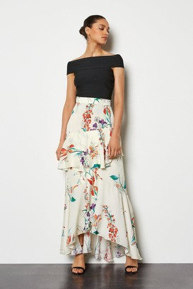Karen Millen Watercolour Floral Skirt