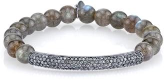 Sheryl Lowe Labradorite & Pave Diamond Bracelet