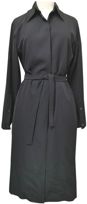 Saint Laurent Black Wool Trench Coat for Women Vintage