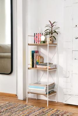 Urban Outfitters Jones Bookshelf - White ALL at