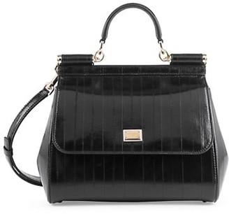Dolce & Gabbana Large Sicily Eel Top Handle Bag