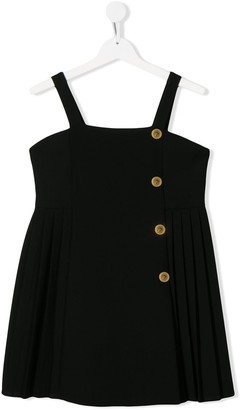 Versace TEEN pleated pinafore dress