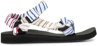 By Any Other Name Trekky striped strappy sandals