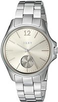 DKNY Women's Quartz Stainless Steel Automatic Watch, Color:Silver-Toned (Model: NY2516)