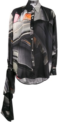 Peter Do Junkyard-print silk shirt