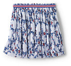 Classic Girls Pleated Print Knit Skirt-White