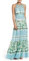 Eliza J Petite Women's Halter Maxi Dress