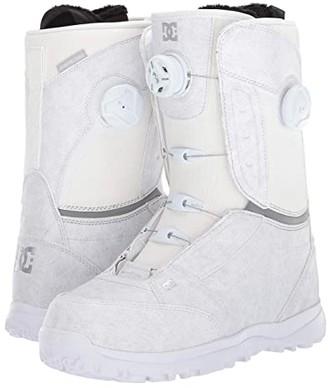 DC Lotus Boa Snowboard Boots (White) Women's Snow Shoes