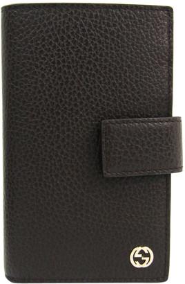 Gucci Brown/Dark Brown Leather Tri fold Wallet