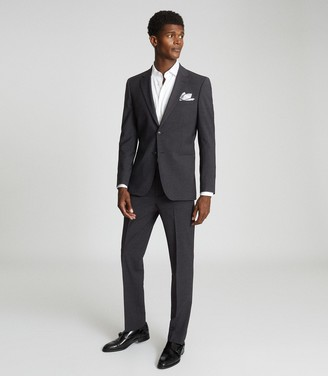 Reiss Hope - Modern Fit Travel Blazer in Charcoal