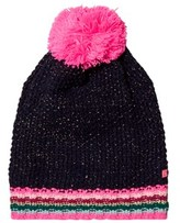 Le Big Navy and Stripe Knitted Bobble Hat