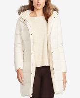 Lauren Ralph Lauren Faux-Fur-Trim Quilted Puffer Coat, Only at Macy's