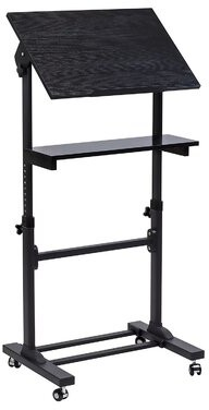 Harris Mobile Presentation Lectern Height Adjustable Multi Purpose Workstation Standing Desk Symple Stuff