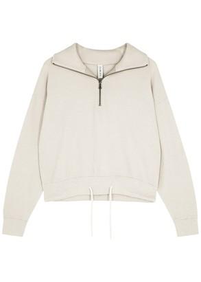 Varley Buckingham Half-zip Knitted Cotton Jumper