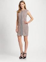 La Via 18 Mixed-Media Shift Dress