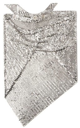 Paco Rabanne Chainmail Mesh Triangle Scarf - Silver