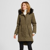Merona Women's Parka with Faux Trim Collar