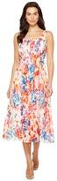 Donna Morgan Pleated Front Chiffon Midi Dress Women's Dress