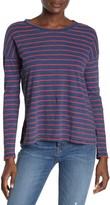 Amour Vert Faherty Brand Sinclair Striped Long Sleeve T-Shirt