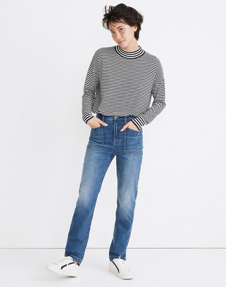 Madewell Classic Straight Full-Length Jeans in Marfield Wash: Surplus Pocket Edition