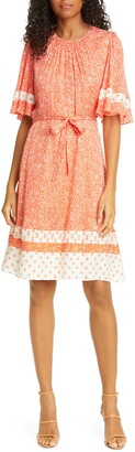 Rebecca Taylor Floral Jacquard Silk Blend Dress