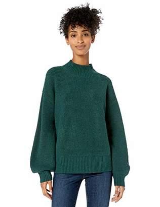 Goodthreads Boucle Half-cardigan Stitch Balloon-sleeve SweaterMedium
