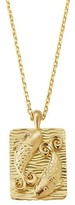 Thumbnail for your product : David Webb Zodiac 18K Yellow Gold Reversible Pisces Pendant Necklace