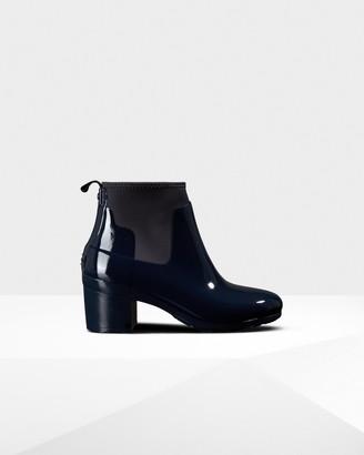 Hunter Women's Refined Slim Fit Gloss Mid Heel Boots