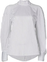 MSGM stripe high neck blouse