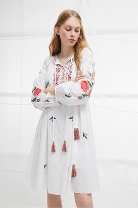 French Connection Edessa Cotton Folk Dress