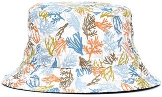 Loro Piana Kids Summer Corals linen bucket hat