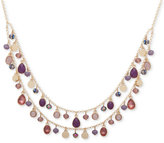 Nine West Gold-Tone Shaky Bead Two-Layer Collar Necklace