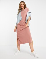 Thumbnail for your product : Monki Isabella super soft midi t-shirt dress in dusty pink