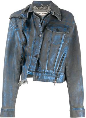 Ottolinger x ISKO double-collar denim jacket