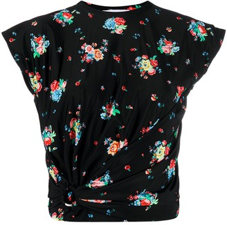 Paco Rabanne Floral Gathered Top