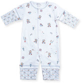 Kissy Kissy First Down Football Print Coverall, Size 3-24 Months